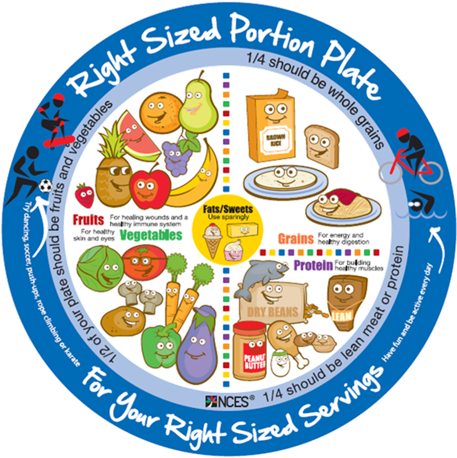 Transparent healthy plate of food clipart - Drawing Plate Healthy Eating - Portion Sizes In Spanish