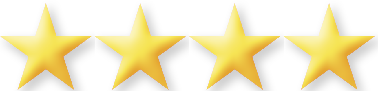 Transparent gold star clipart no background - 5 Stars Png No Background - 4 Out Of 4 Stars