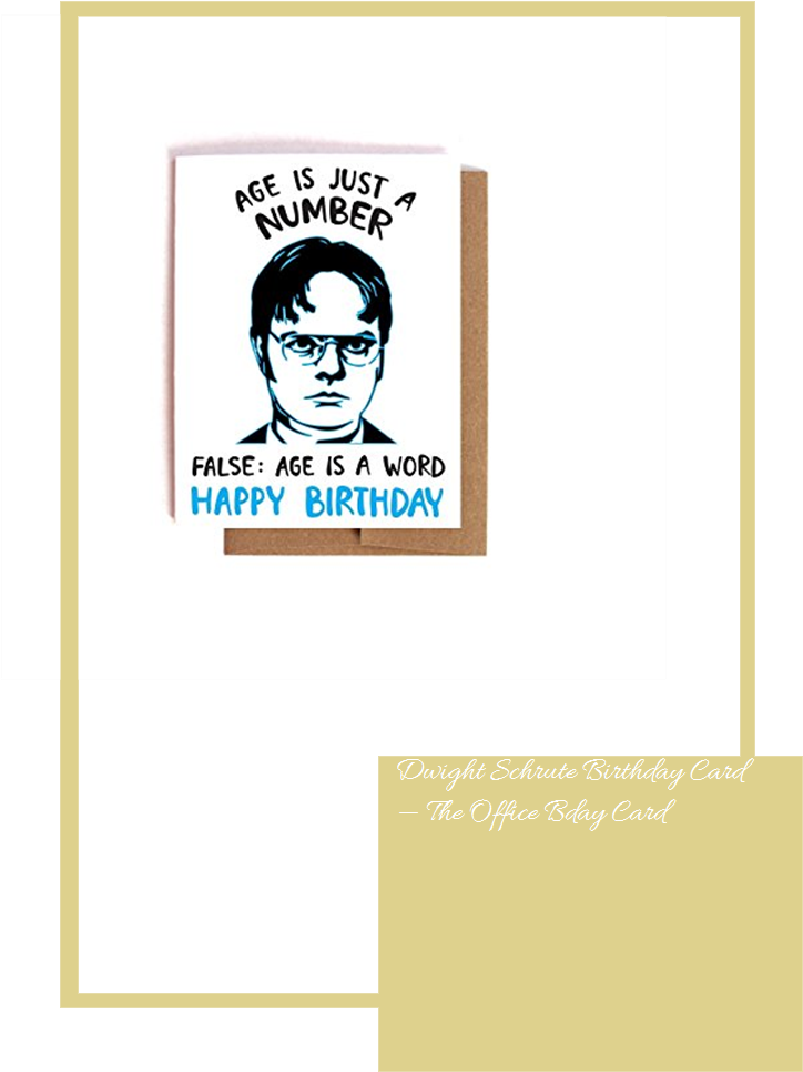 Dwight Schrute Birthday Card The Office Bday Card Office