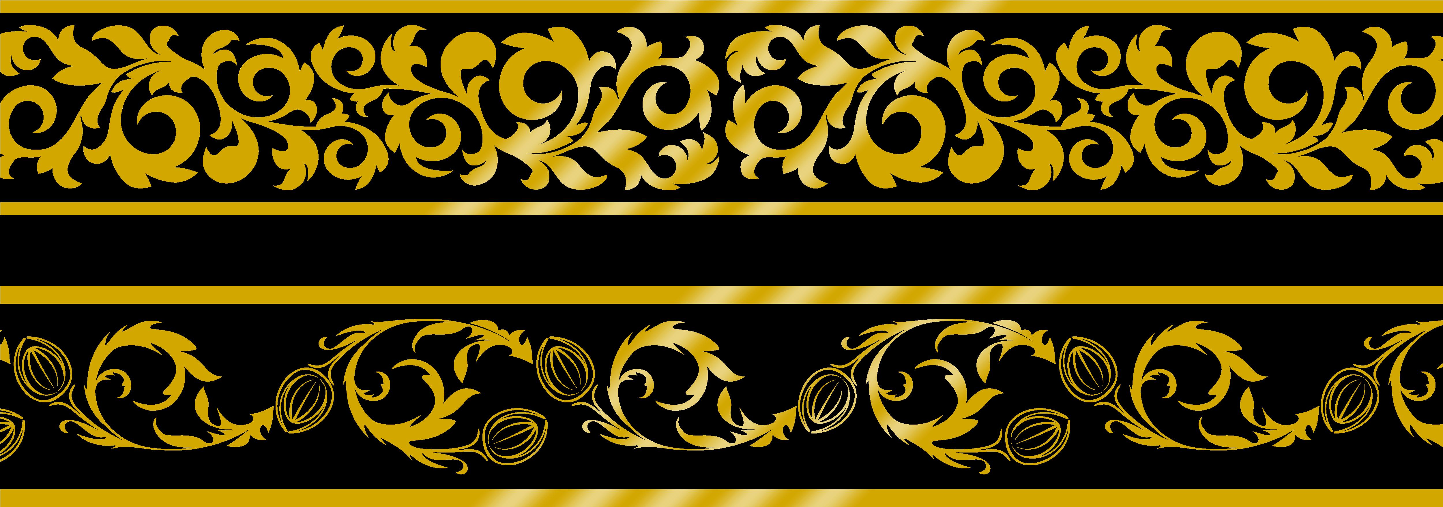 Transparent gold lace clipart - Border Gold Png - Lace Golden Border Png