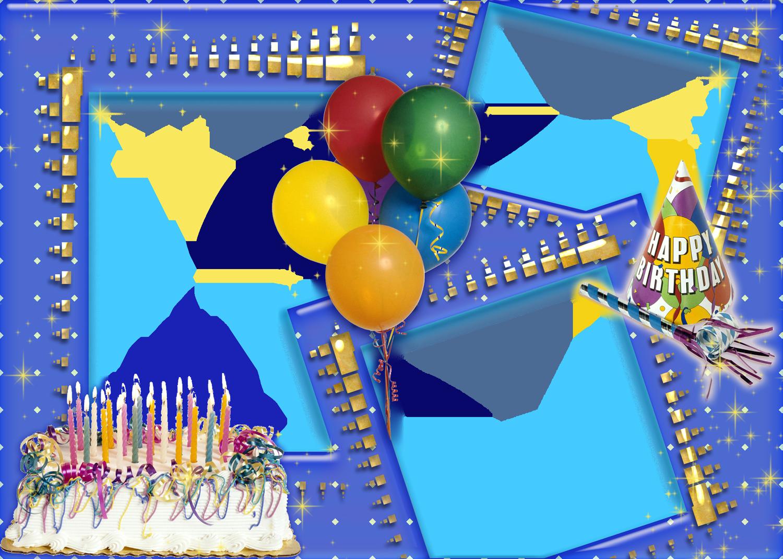 Transparent happy birthday frame clipart - Happy Birthday Photo Frame Hd - Collage De Fotos Para Cumpleaños