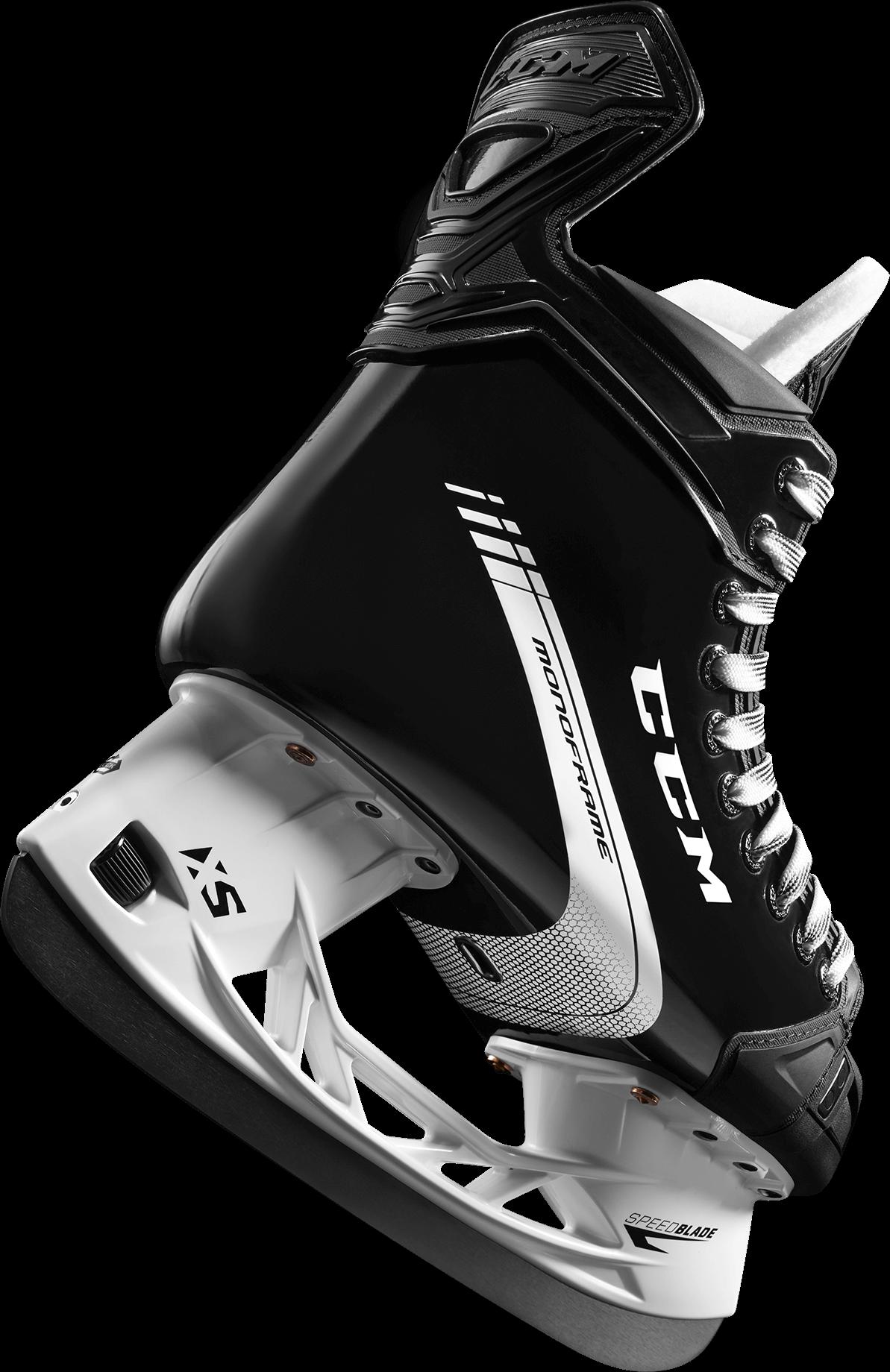 Transparent pair of ice skates clipart - Ccm One Piece Skates