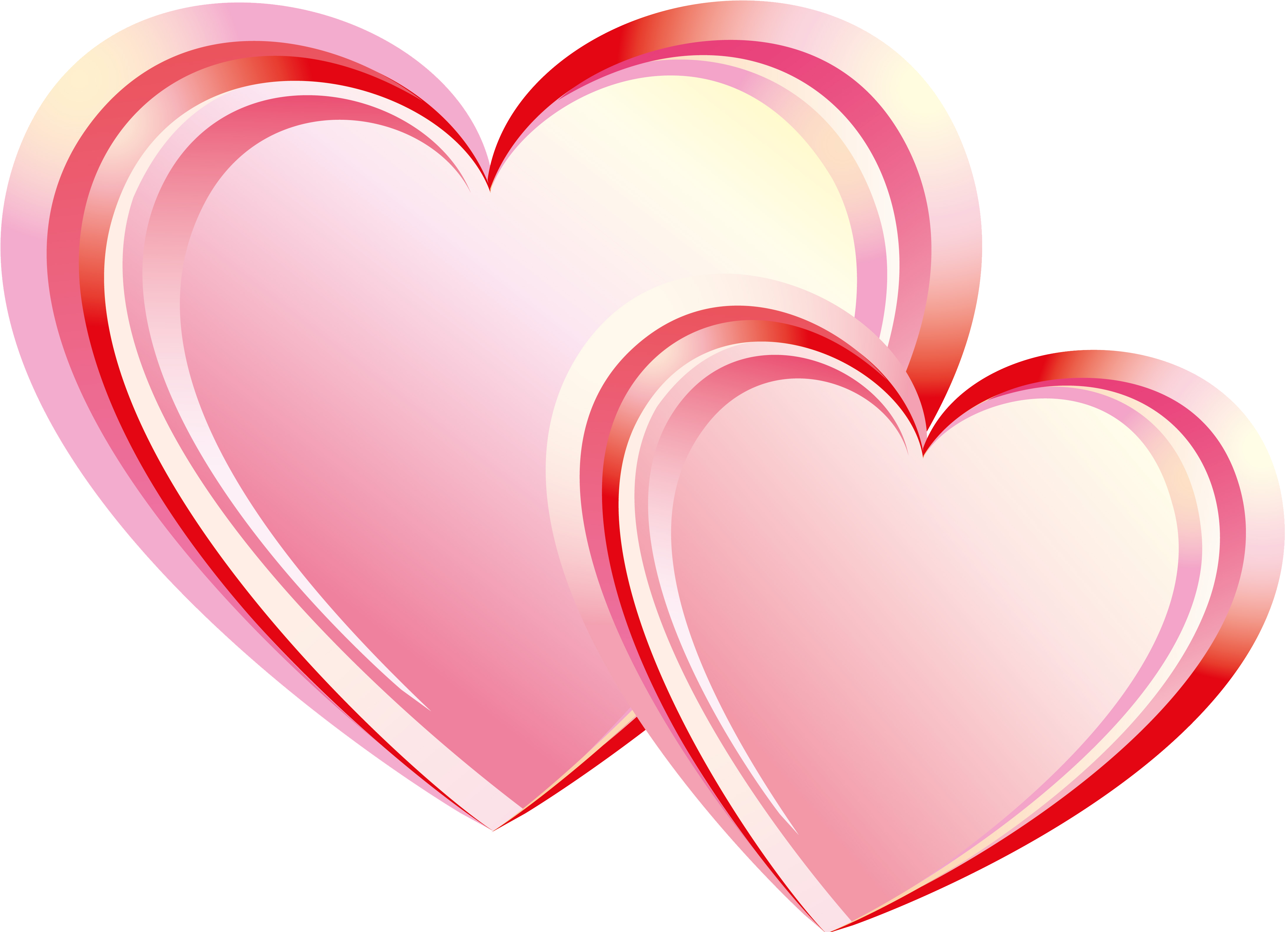 Transparent two become one clipart - Two Heart Png