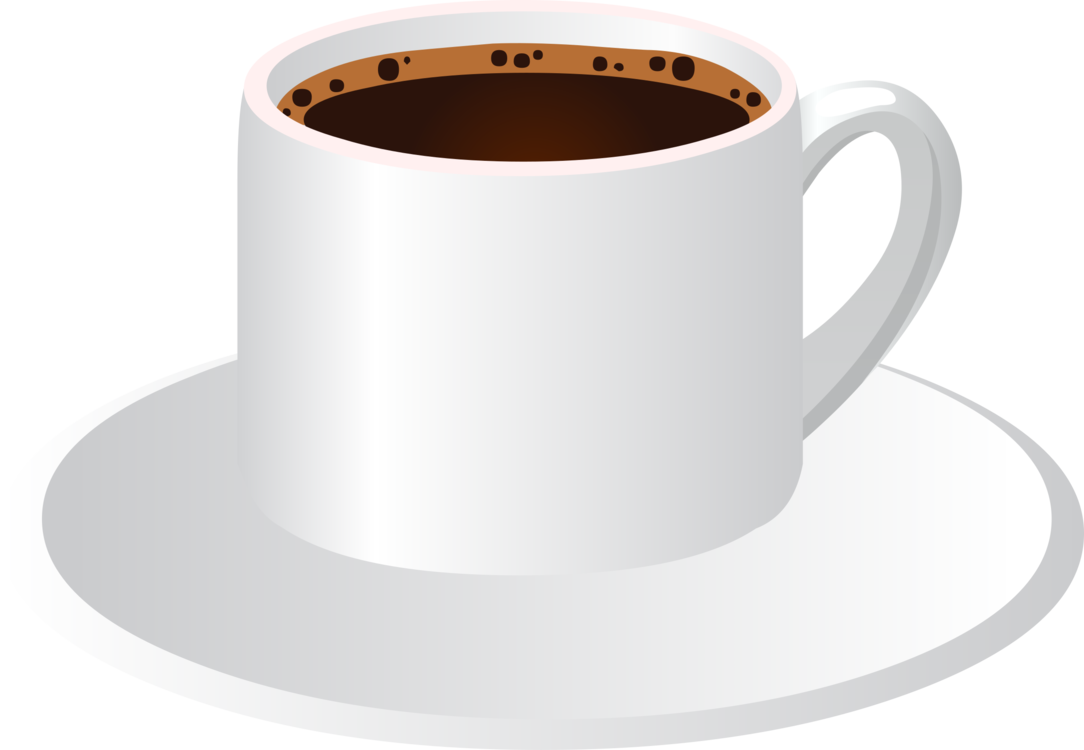 Transparent drink coffee clipart - Drink Coffee - Cup & Saucer With Coffee