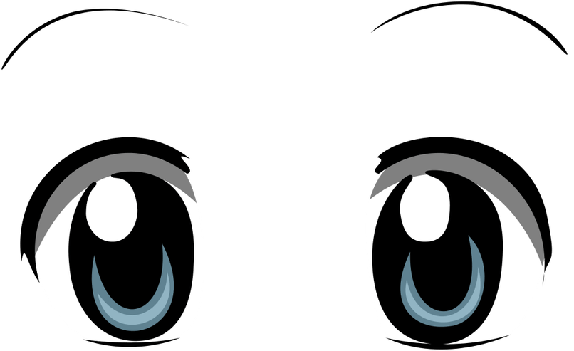 Transparent cartoon eyeballs clipart - Cartoon Eyes Reviewwalls Co Filebright Anime Eyessvg - Anime Eyes Clipart