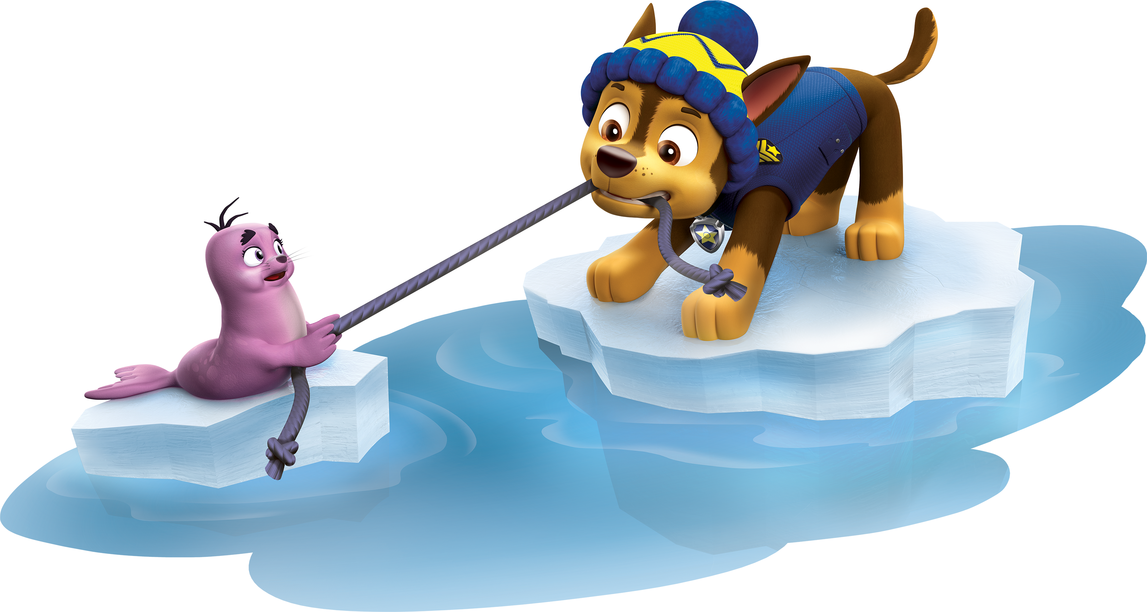 Transparent paw patrol clip art - Chase Having Fun Paw Patrol Clipart Png - Chase Paw Patrol Winter