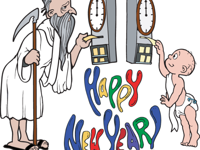 Transparent new year clipart 2017 - New Year Clipart Father Time - Happy New Year 2017 Funny