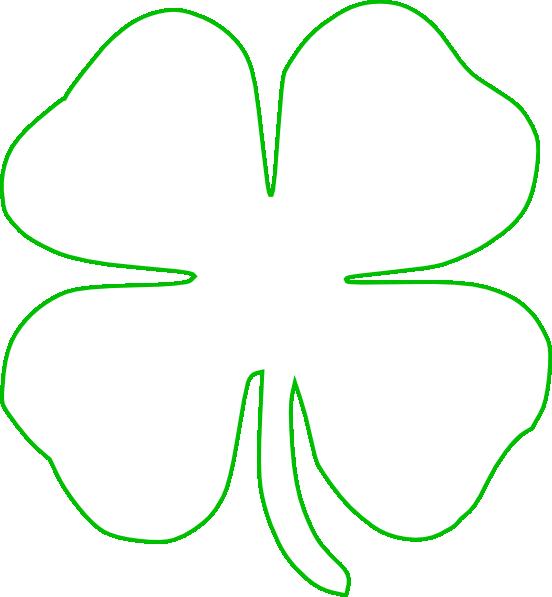 Transparent four leaf clover clip art - White Green Shamrock Clip Art - White Shamrock Green Background