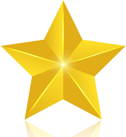 Transparent gold star clipart - 3d Gold Star Png Image - Golden Stars For Photoshop