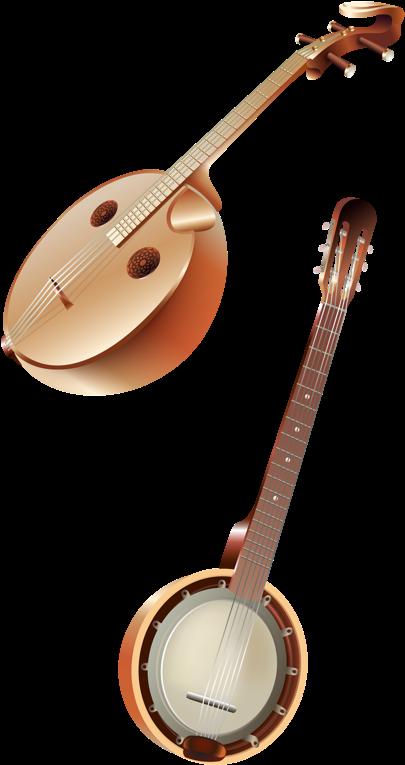 Transparent musical instruments clipart - Music Instruments - Indian Musical Instruments