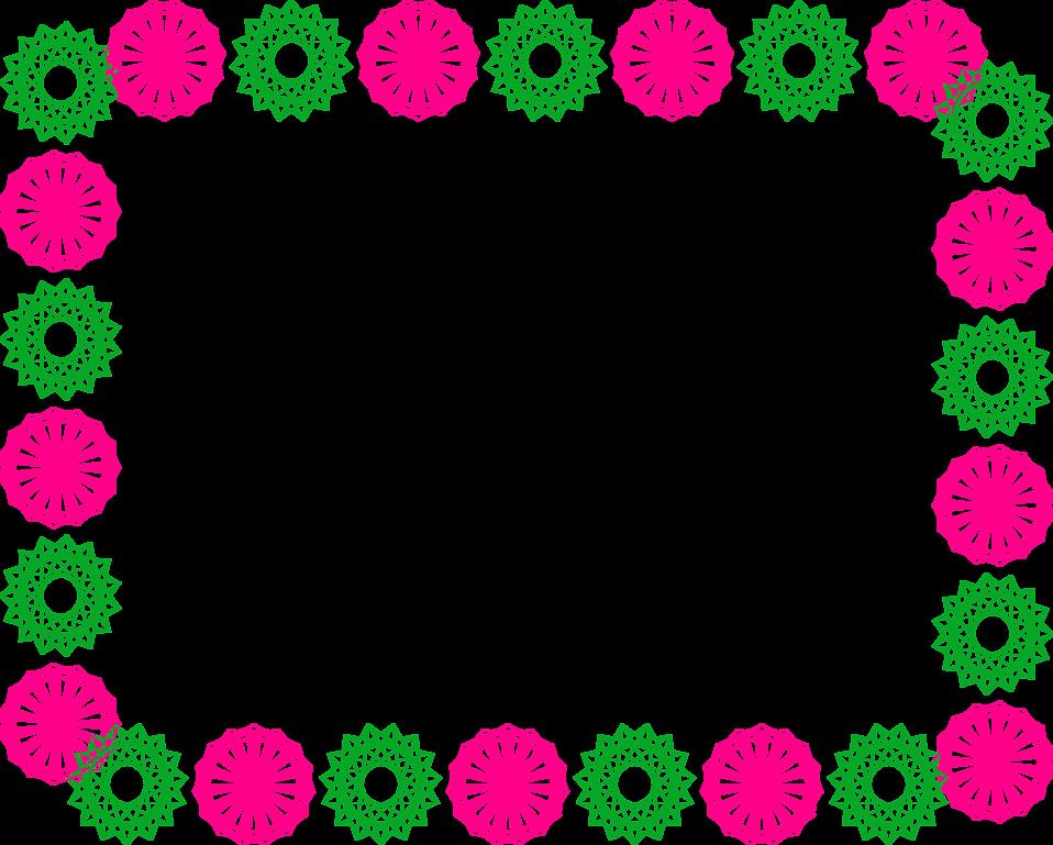 Flower Border Line Design Group Free Stock Border Line