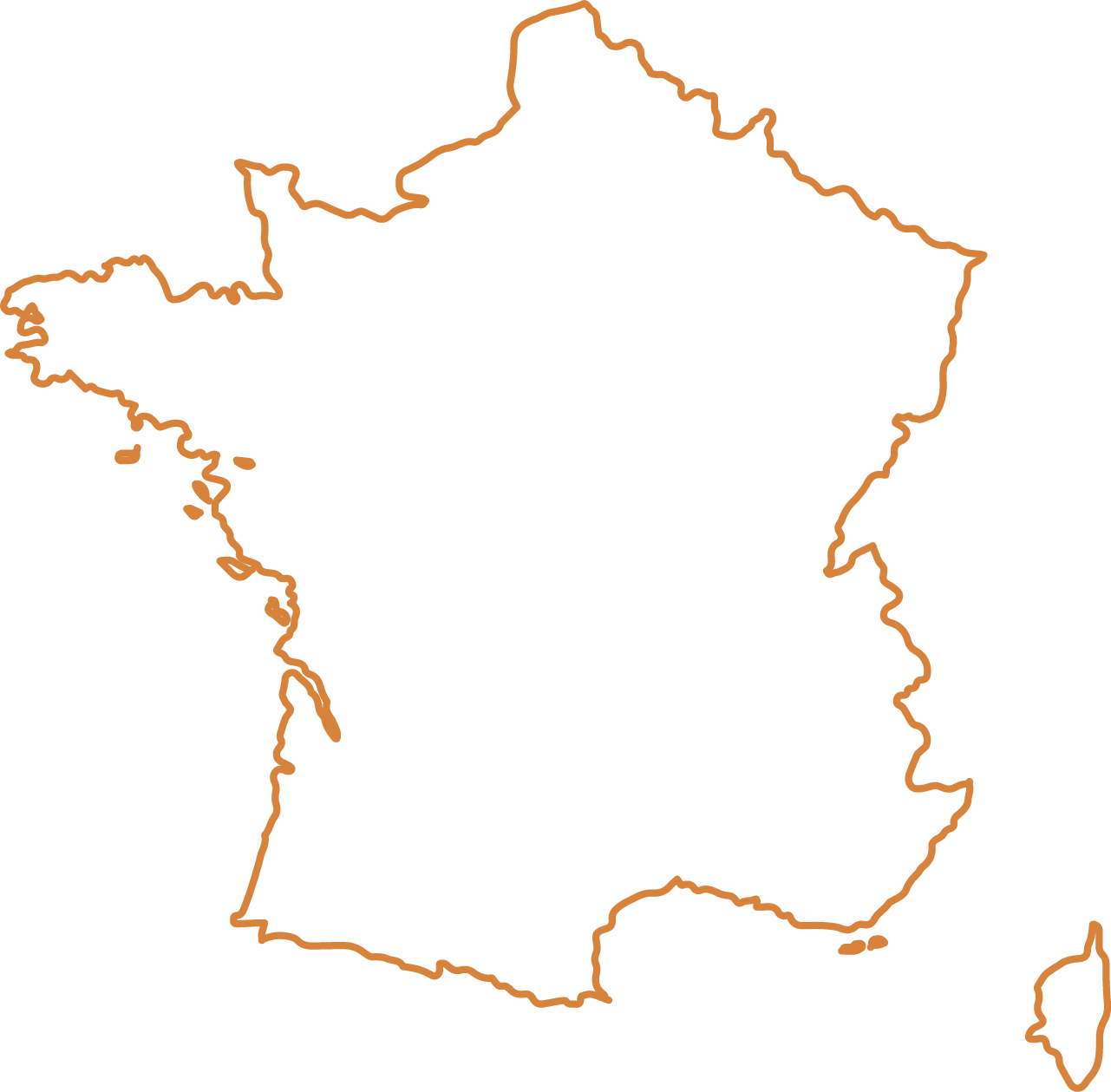Country Dog - France Outline - Blank France Map Png ...