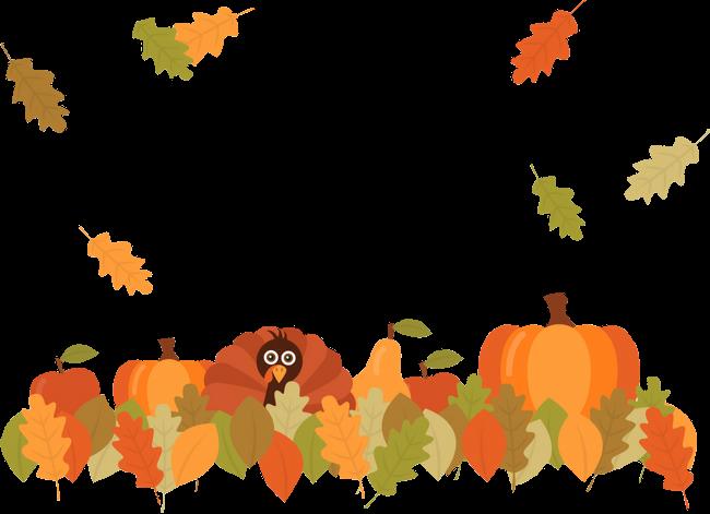 Transparent autumn frame clipart - #thanksgivingdecor #thanksgiving #turkeys #autumn #frame - Fall Pumpkin Leaves Png