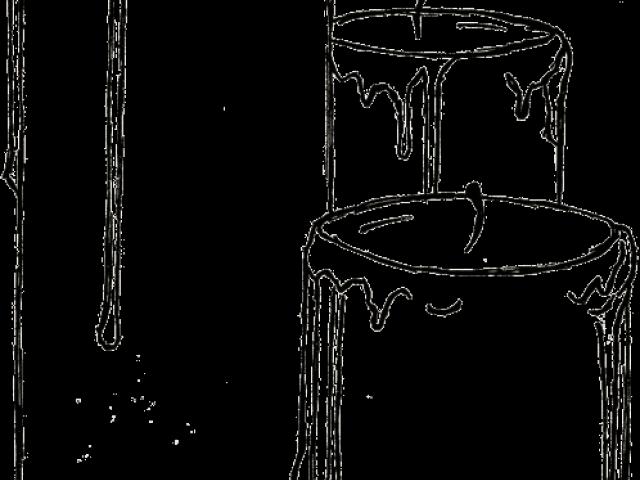 Drawn Candle Outline Sketch Transparent Cartoon Jing Fm
