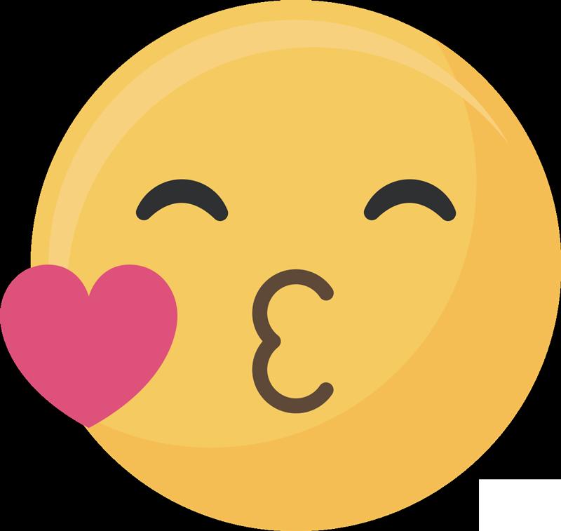 Transparent kiss emoji clipart - Kiss Emoji Love Sticker - Emoticono Beso