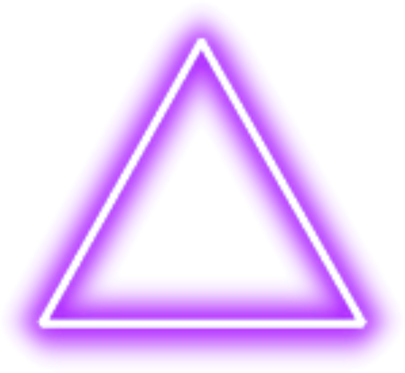 purple ##neon #triangle #border #png #freetoedit - Triangle