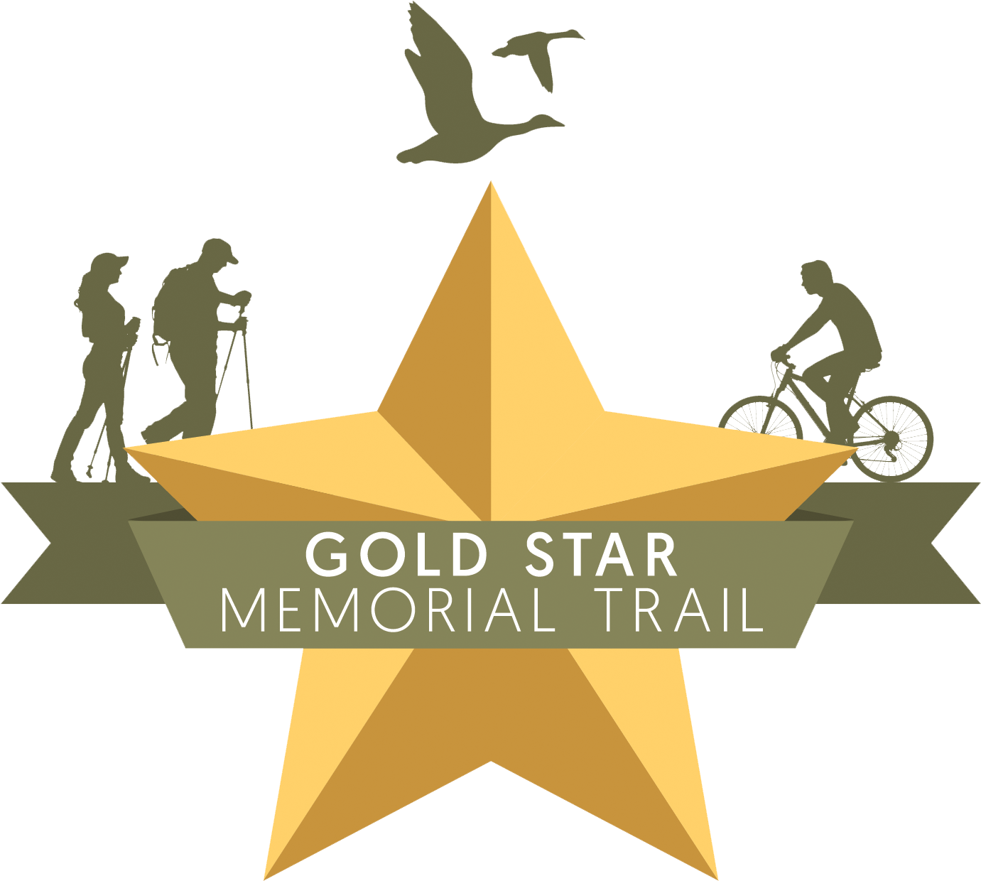 Transparent gold star clipart - Image Of A Gold Star Group Svg Free - Gold Star Memorial Trail