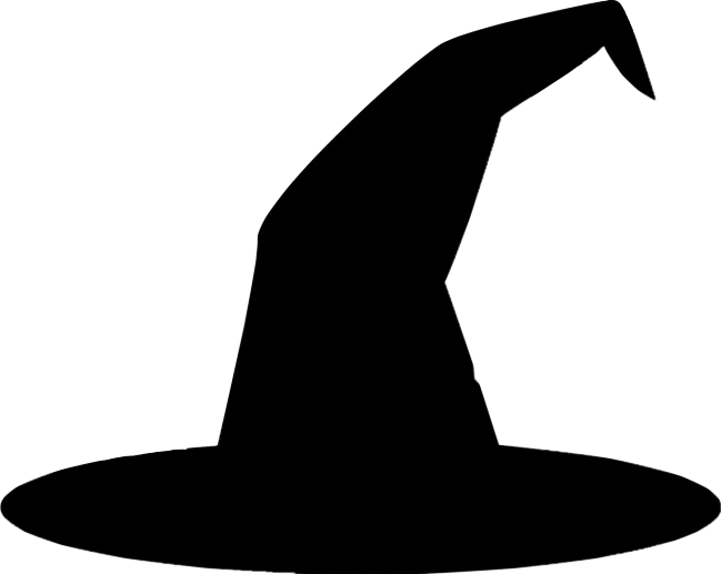 Witch Hat Witchhat Black Blackhat Freetoedit Witch Hat Silhouette Transparent Cartoon Jing Fm