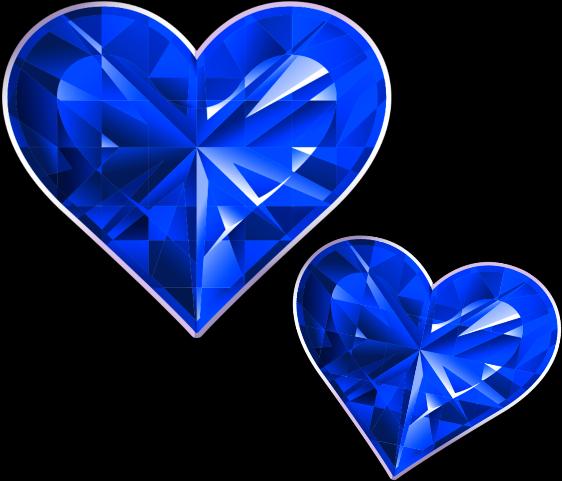 Transparent diamond heart clipart - #mq #blue #heart #hearts #diamond #diamonds - Heart