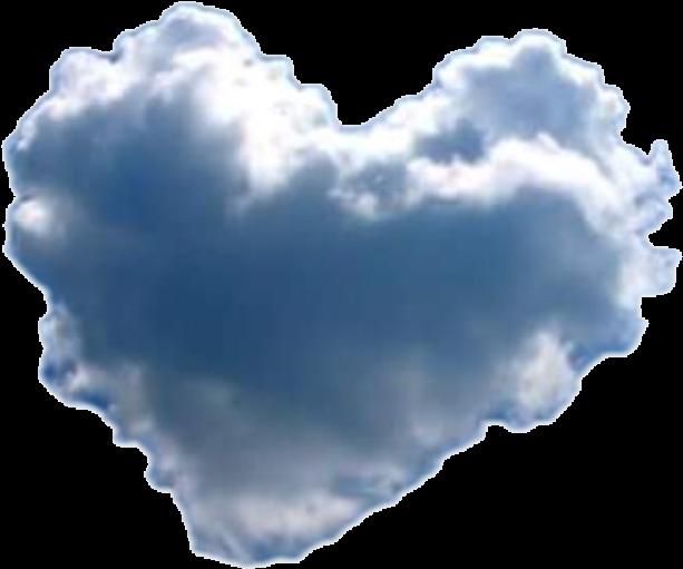 Transparent heart cloud clipart - #heart #cloud - Heart Cloud Transparent