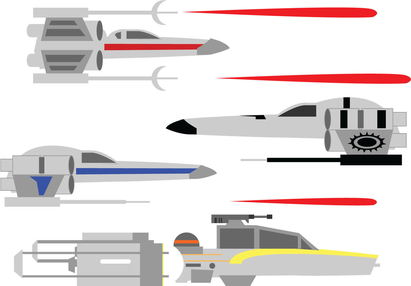Transparent star wars ships clipart - Incom On The Other Hand, And Rebel Ships In General - Discord Star Wars Emoji