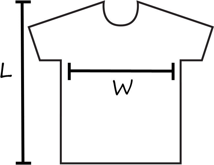 Adult Female T Shirt Size Chart Template T Shirt Sizing Chart