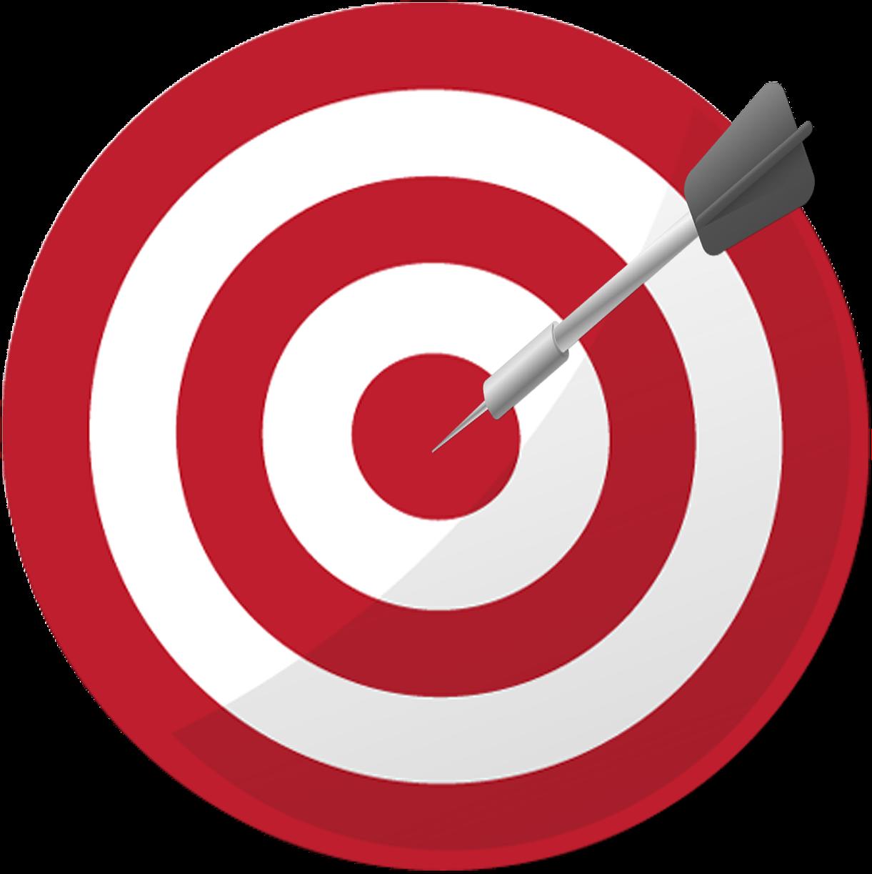 Goals Clipart Png - Dart Board Goal , Transparent Cartoon