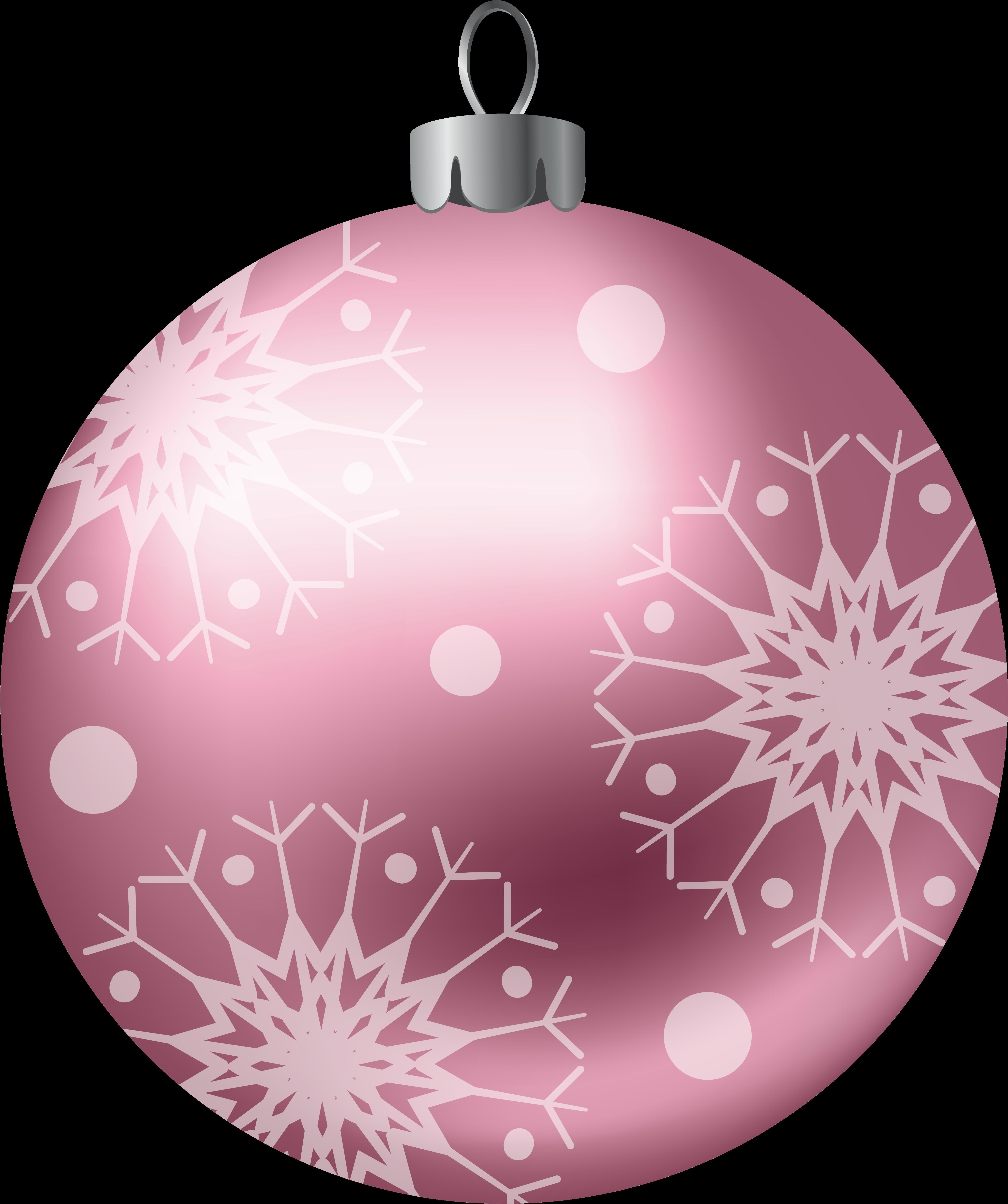 Pink Christmas Ornaments.Pink Christmas Ornaments Christmas Clipart Christmas