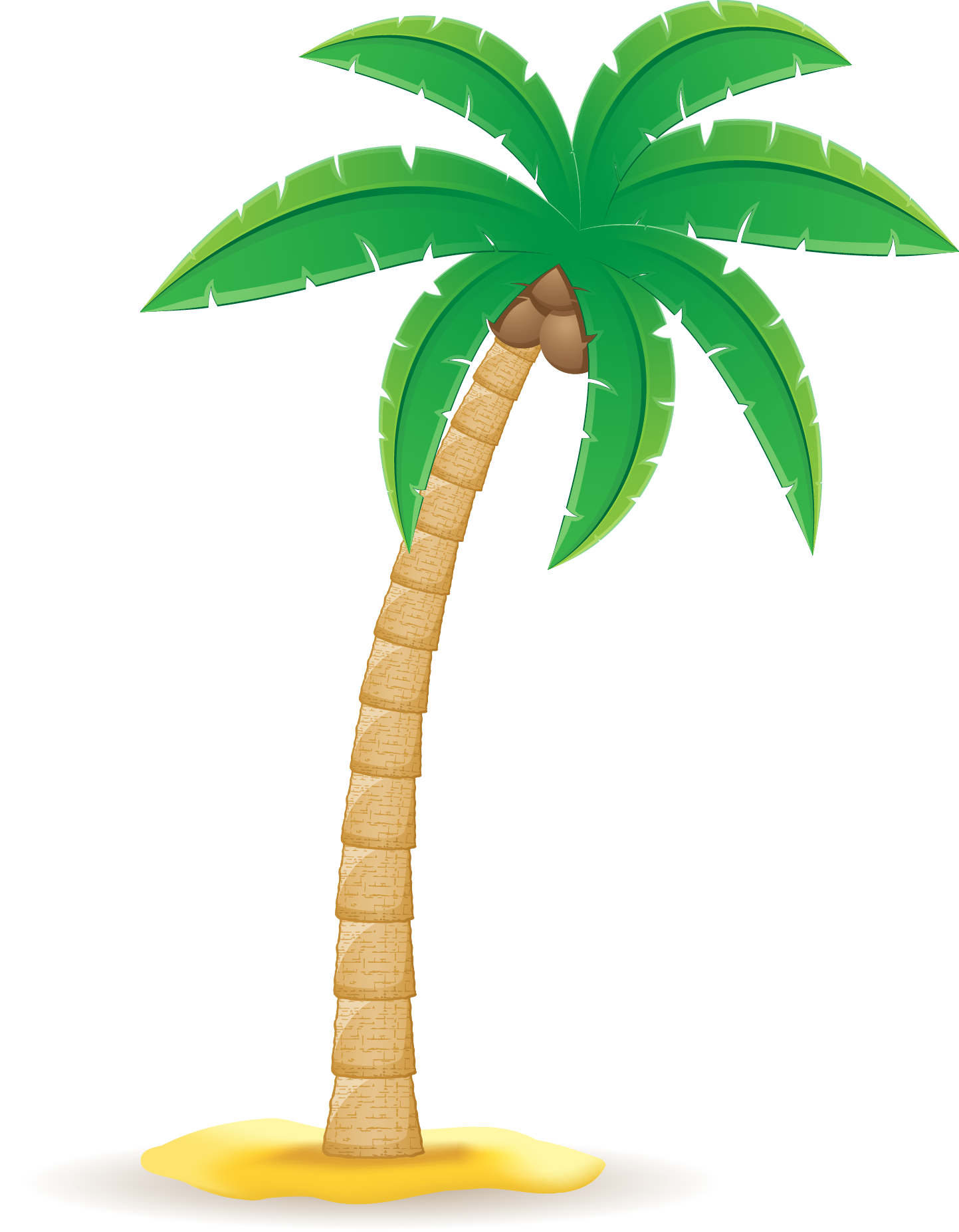 Transparent palm tree leaf clipart - Arecaceae Clip Art Transprent Png Ⓒ - Coconut Tree Vector Png