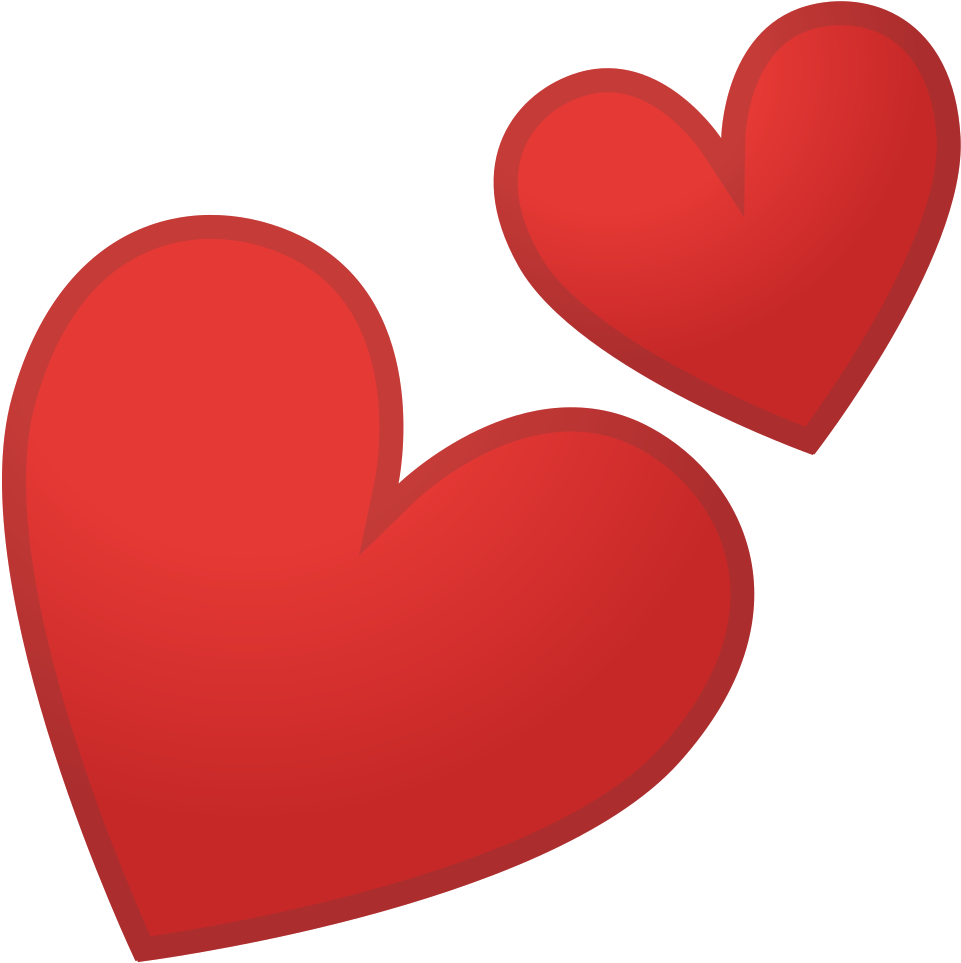 Transparent two hearts one love clipart - Two Hearts Icon - Two Red Hearts Emoji