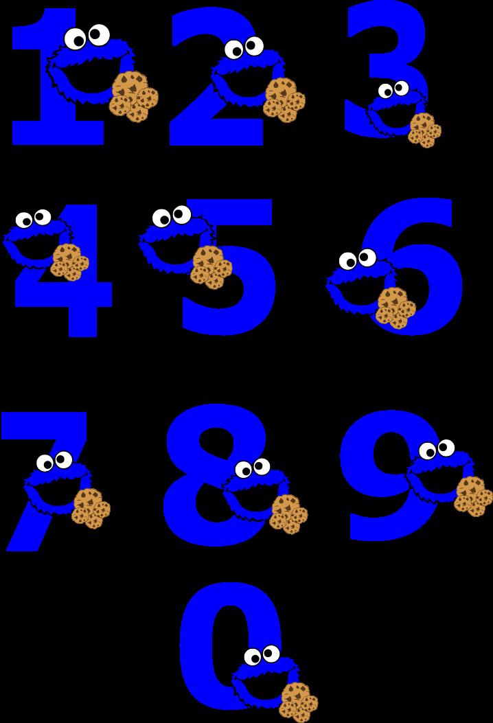 Cookie Monster Number 1 Png Transparent Cartoon Jing Fm