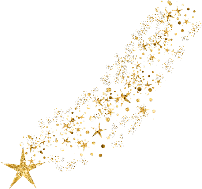 Transparent star dust clipart - #ftestickers #stardust #shootingstar #goldstars #golden - Gold Glitter Stars Png