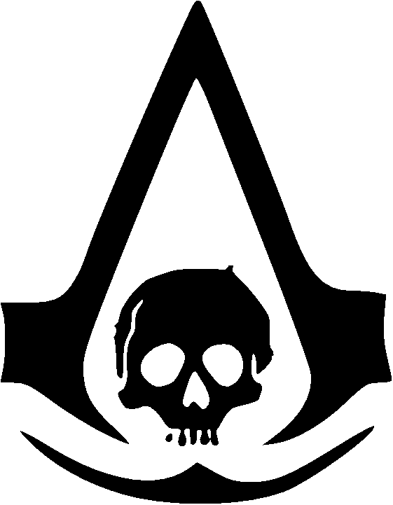 Logo Assassins Creed Black Flag Assassin Creed Logo Sticker Transparent Cartoon Jing Fm