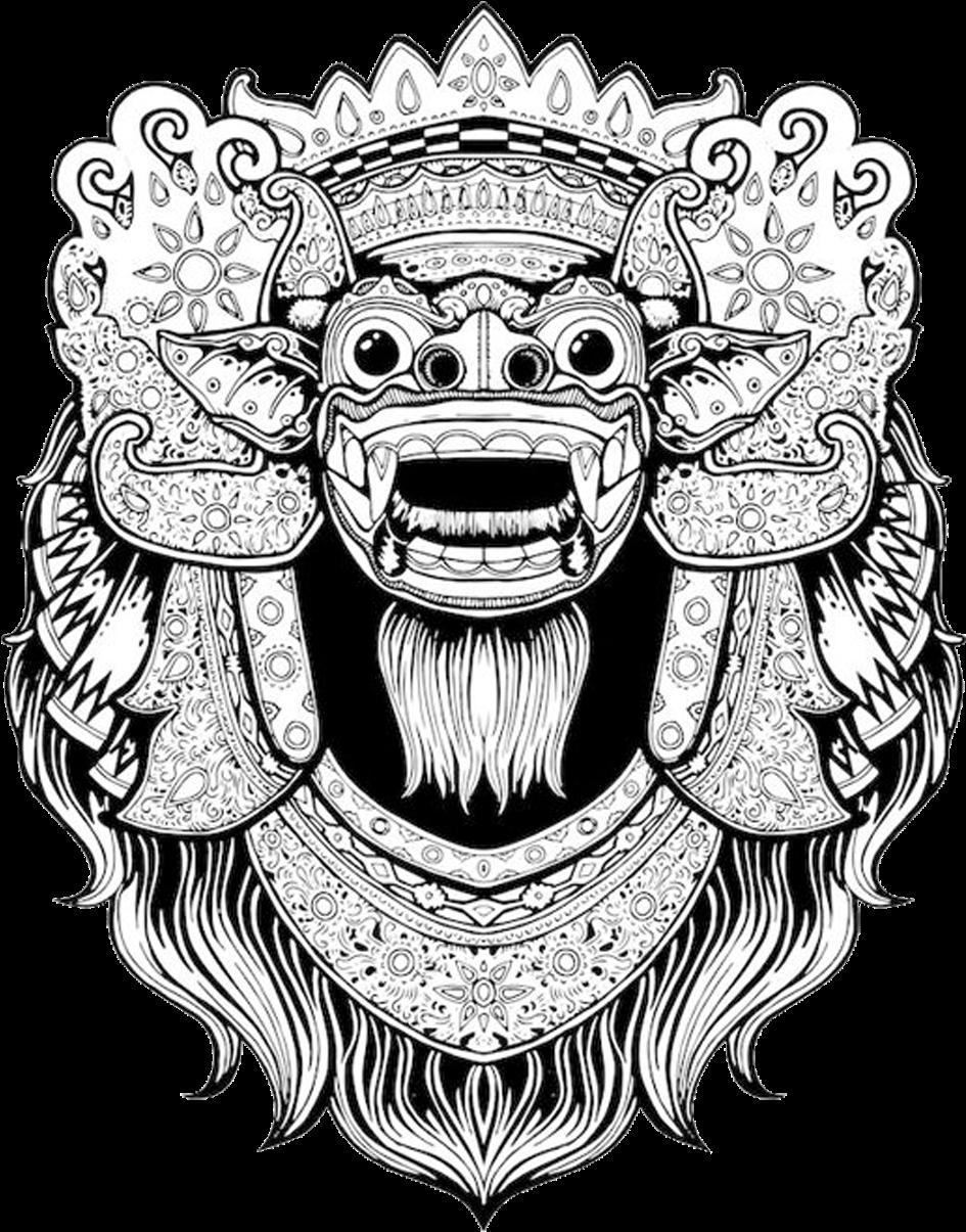 Transparent t-shirt clipart - Balinese Art Bali Barong T-shirt Drawing Clipart - Barong Drawing