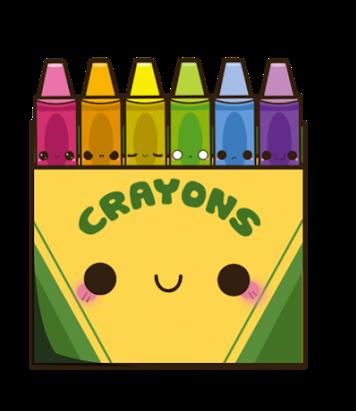 Crayons Sticker Kawaii Crayons Clipart Transparent