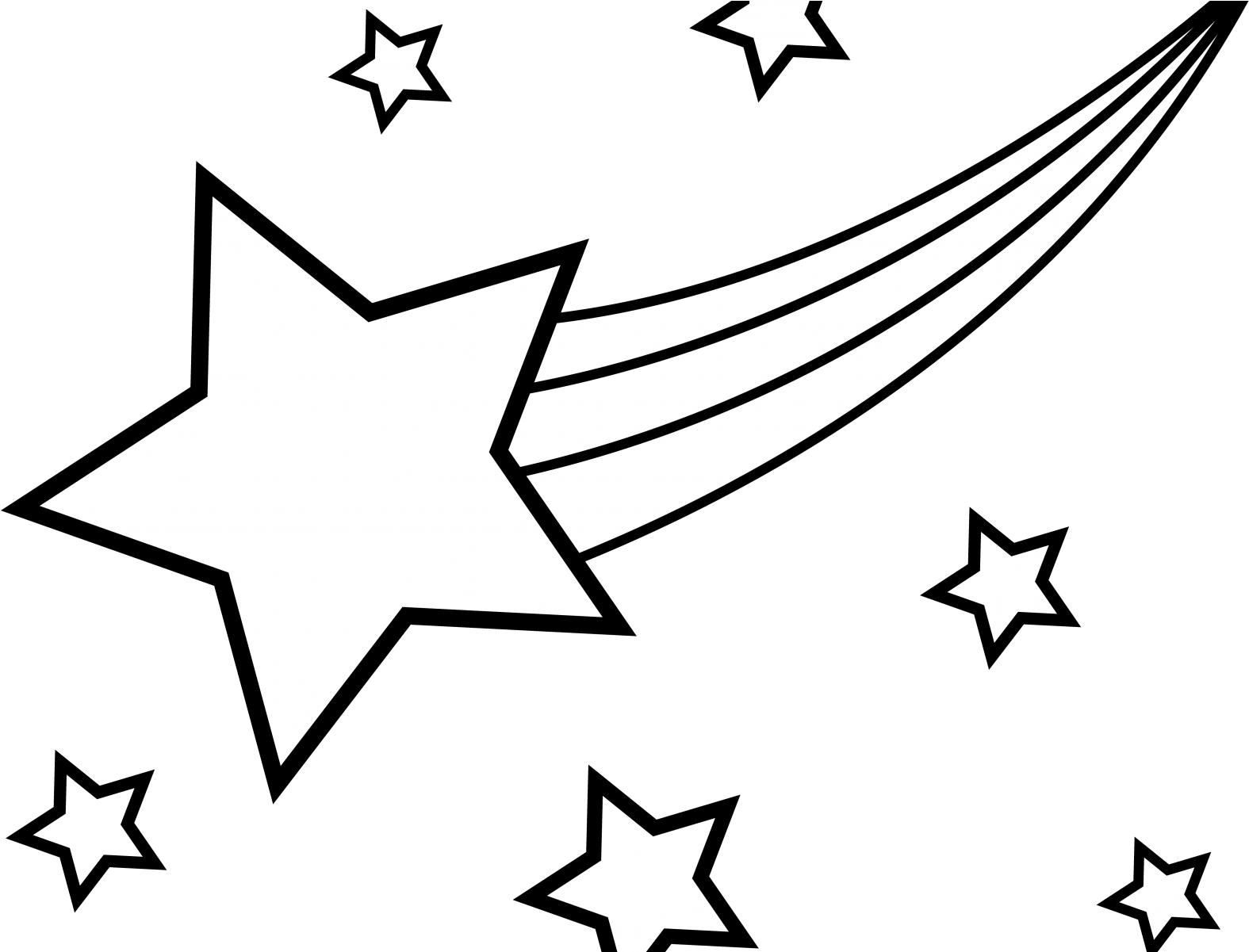 Transparent stars clipart black and white - Falling Stars Clipart Black And White - Black And White Drawn Shooting Star