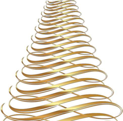 Transparent glowing string lights clipart - Christmas Ornament Clipart Gold - Xmas Tree With Transparent Background