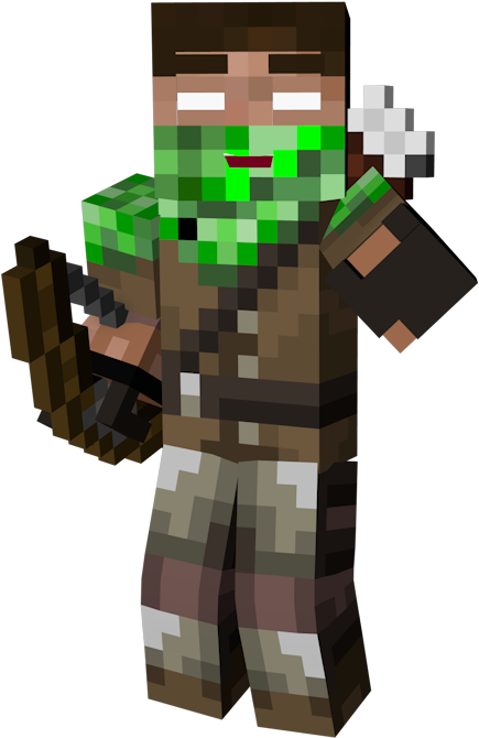 Spoiler Minecraft Enderman Hunter Skin Transparent