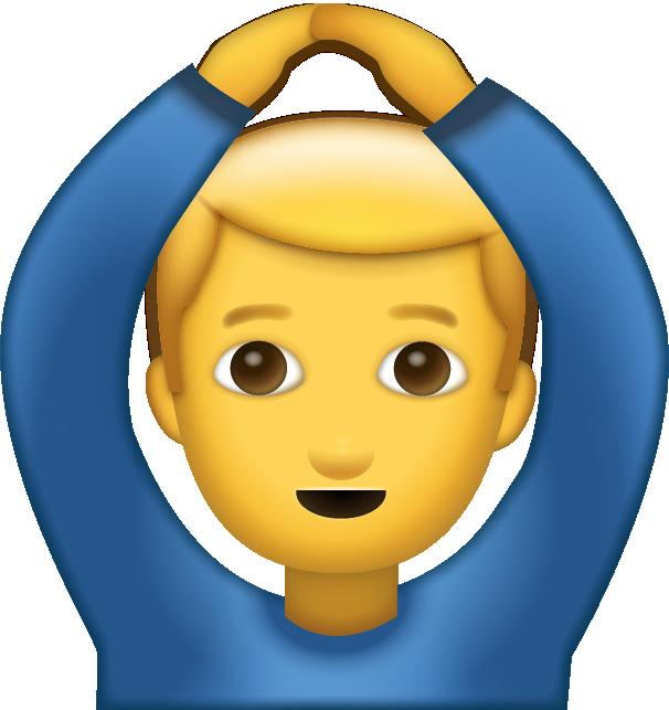 Man Saying Yes Emoji [free Download Iphone Emojis] - Hands