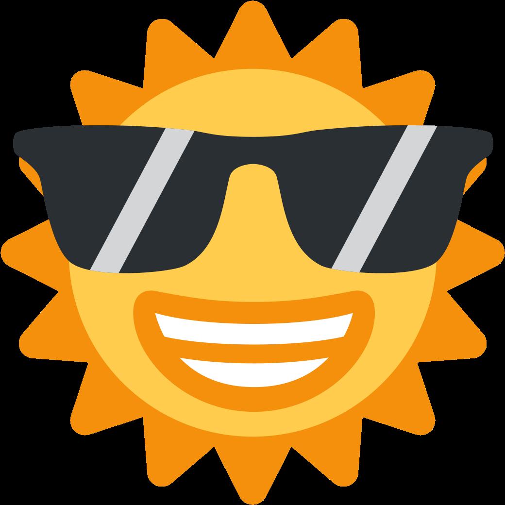 Sunglasses Emoji Clipart Discord - Sun Emoji Discord