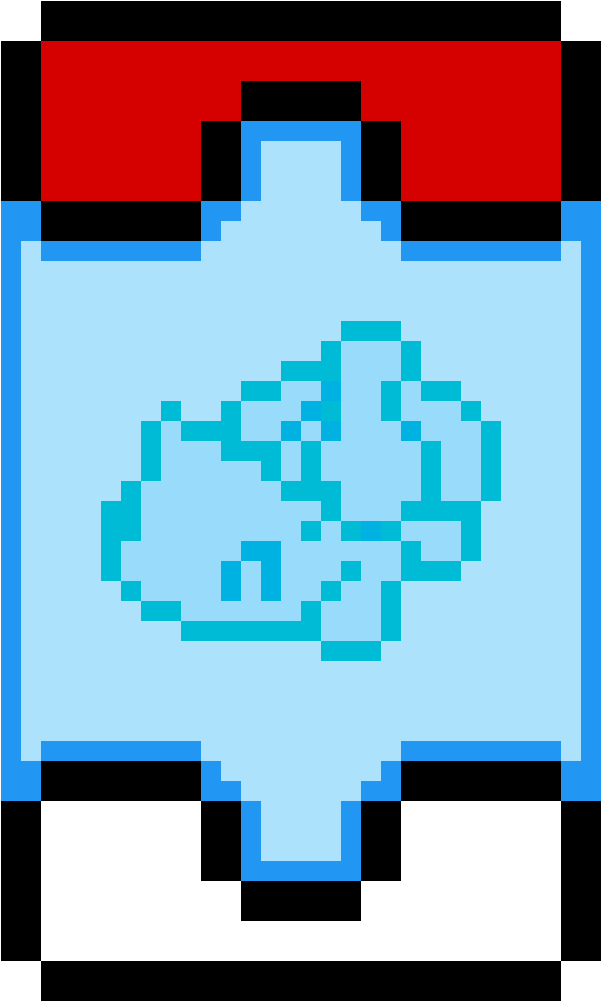 Shiny Bulbasaur Pixel Art - Basic Minecraft Pokemon Pixel