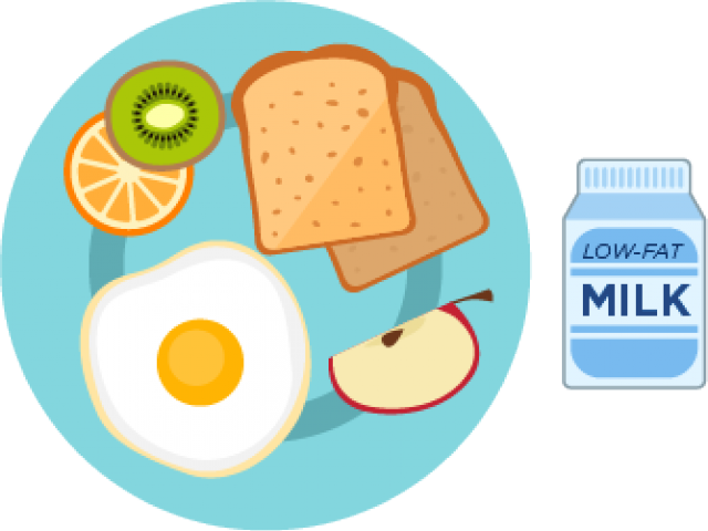 Transparent healthy clipart - Healthy Breakfast Plate Clipart
