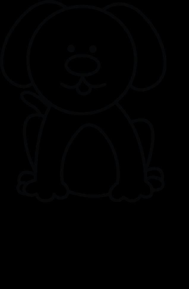 Drawn Pitbull Body Small Dog Drawing Easy Transparent Cartoon Jing Fm
