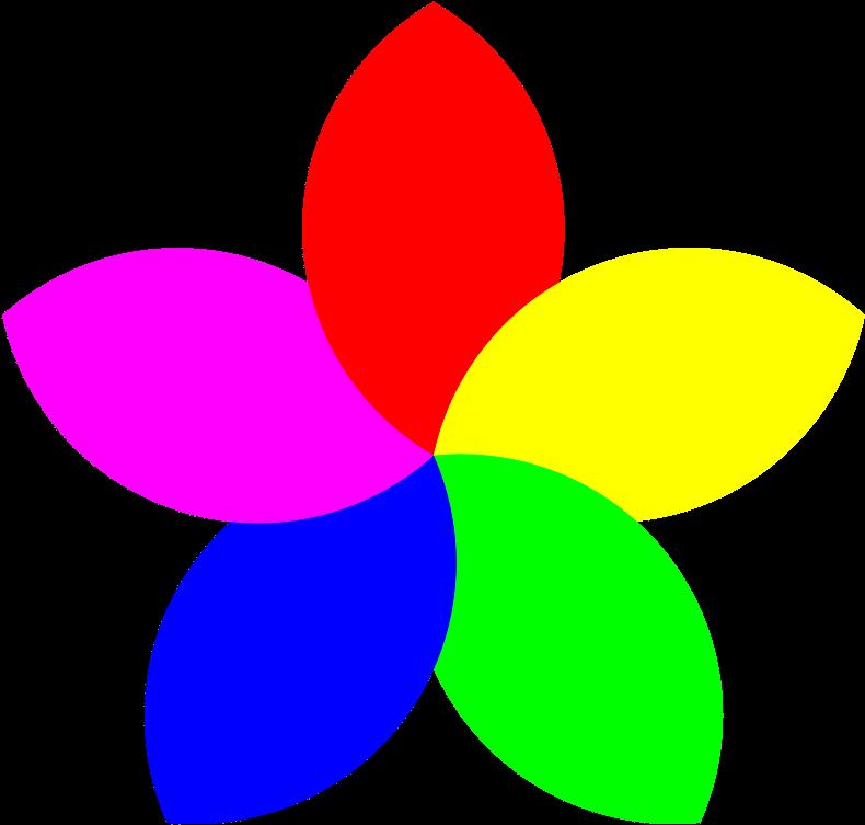 Transparent kids planting clipart - Free Flower Clipart For Kids - Flower 5 Petals