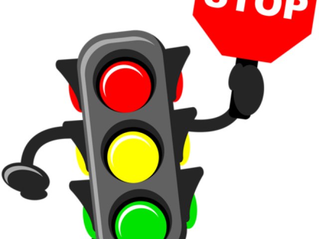 Transparent red traffic light clipart - Traffic Rule
