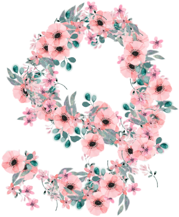 Transparent floral numbers clipart - #9 #nine #number #numbers #number9 #numbernine #use - Bouquet