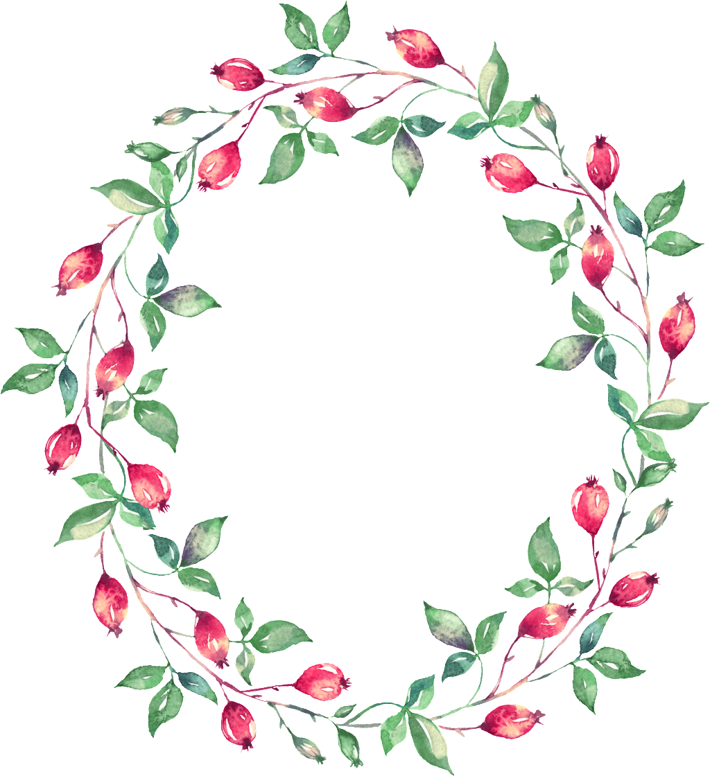 Transparent floral garland clipart - Decor Vector Garland - Watercolor Painting