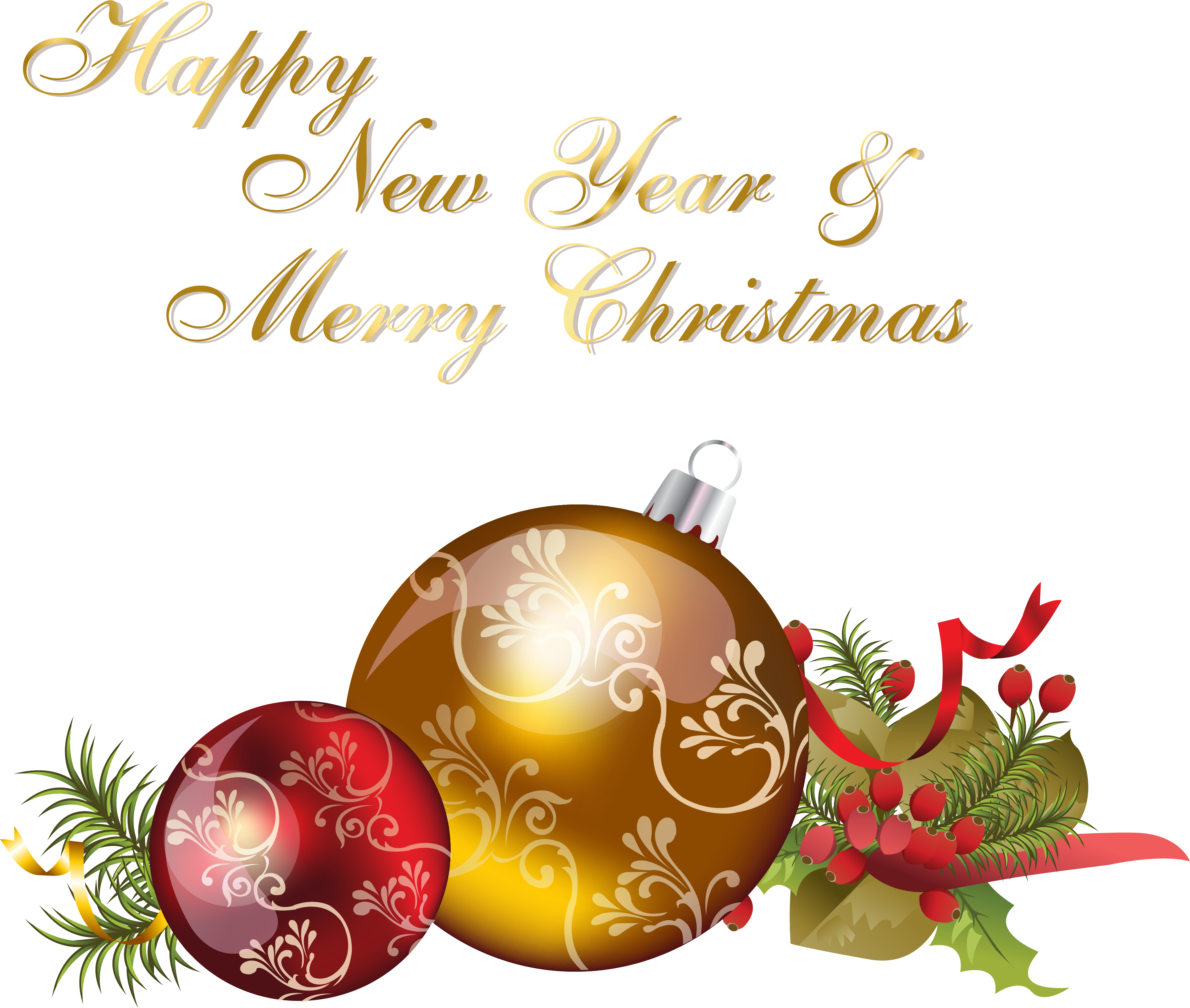 Transparent clipart merry christmas and happy new year - Happy New Year And Merry Christmas - Merry Christmas And Happy New Year 2019 Png