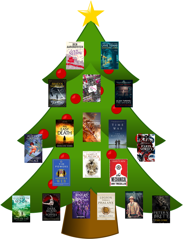Transparent merry christmas & happy new year clipart - May There Be Many Excellent Books In Your Future - Christmas Tree