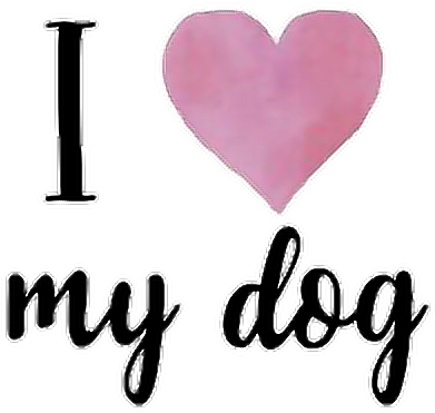 ilovemydog #dog #pets #puppy #love #tumblr #stickers - Love